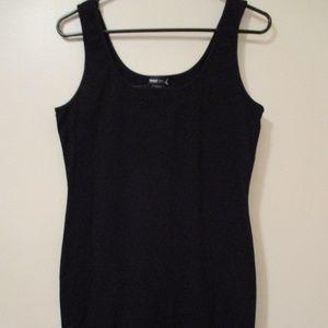 Womens Black Cotton Spandex Dress